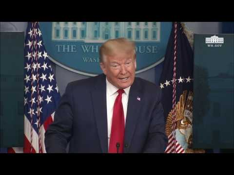 President Trump Holds a Press Briefing