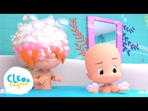 Bath Song With Cuquin - Nursery Rhymes With Cleo And Cuquin | Songs For Kids