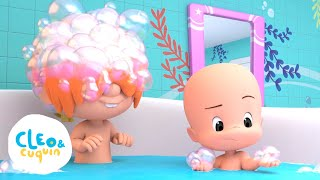 Cover images Bath Song with Cuquin - Nursery Rhymes with Cleo and Cuquin | Songs for Kids