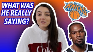 Kevin Durant New York Knicks are not Cool Reaction