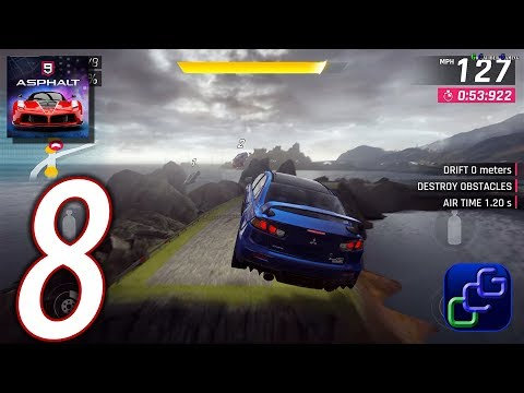 ASPHALT 9 Legend Android iOS Walkthrough - Part 8 - Career: Chapter 1: Class D Rookie
