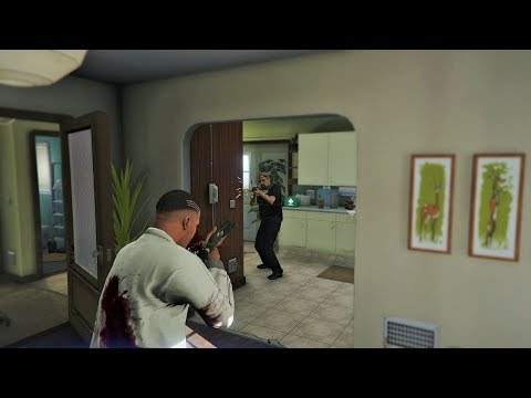 GTA 5 - Cop Battle At FRANKLIN'S OLD HOUSE (GTA V Funny Moments)