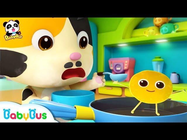 Daddy Cat Makes Pancakes for Baby Kitten | Ice Cream, Candy Song , Learn Colors | Kids Song |BabyBus