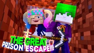 BABY LEAH HARLEY QUINN CREATES A RIOT TO ESCAPE PRISON!!!- Baby Leah Minecraft Adventures!