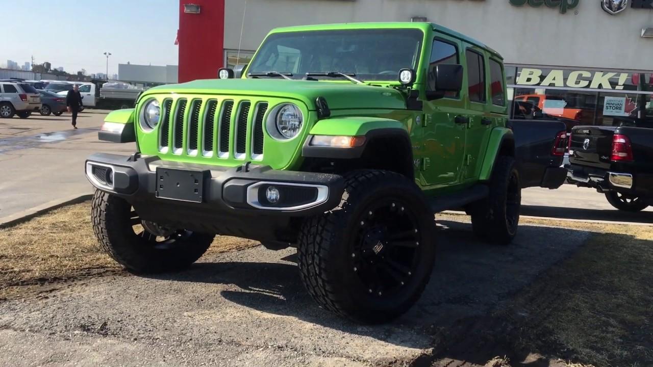 Jeep Wrangler For Sale Ontario >> 2019 Jeep Wrangler unlimited Sahara Mojito Green | Toronto - YouTube