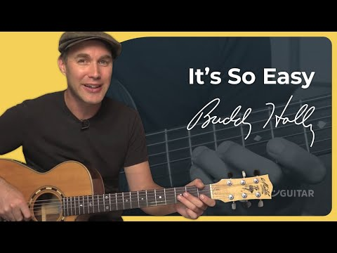 How to play It's So Easy by Buddy Holly (Guitar Lesson SB-413)