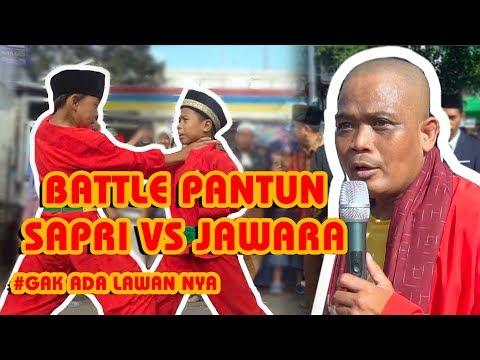 BATTLE PANTUN SAPRI VS JAWARA PALANG PINTU #GAK ADA KALAHNYA