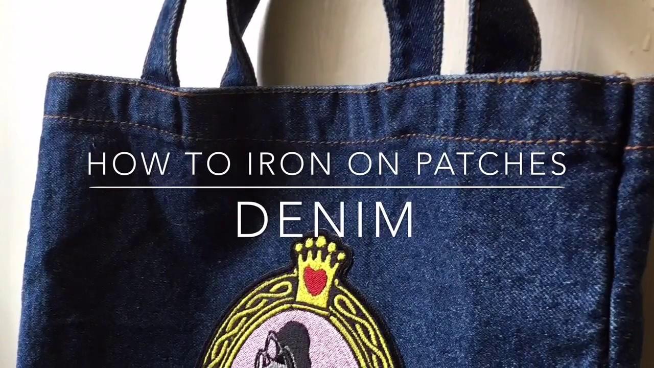 Antique Iron Patches Denim