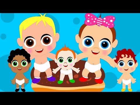 Lima Bayi Kecil | Lagu prasekolah untuk anak-anak | Baby Rhyme | Nursery Song | Five Little Babies
