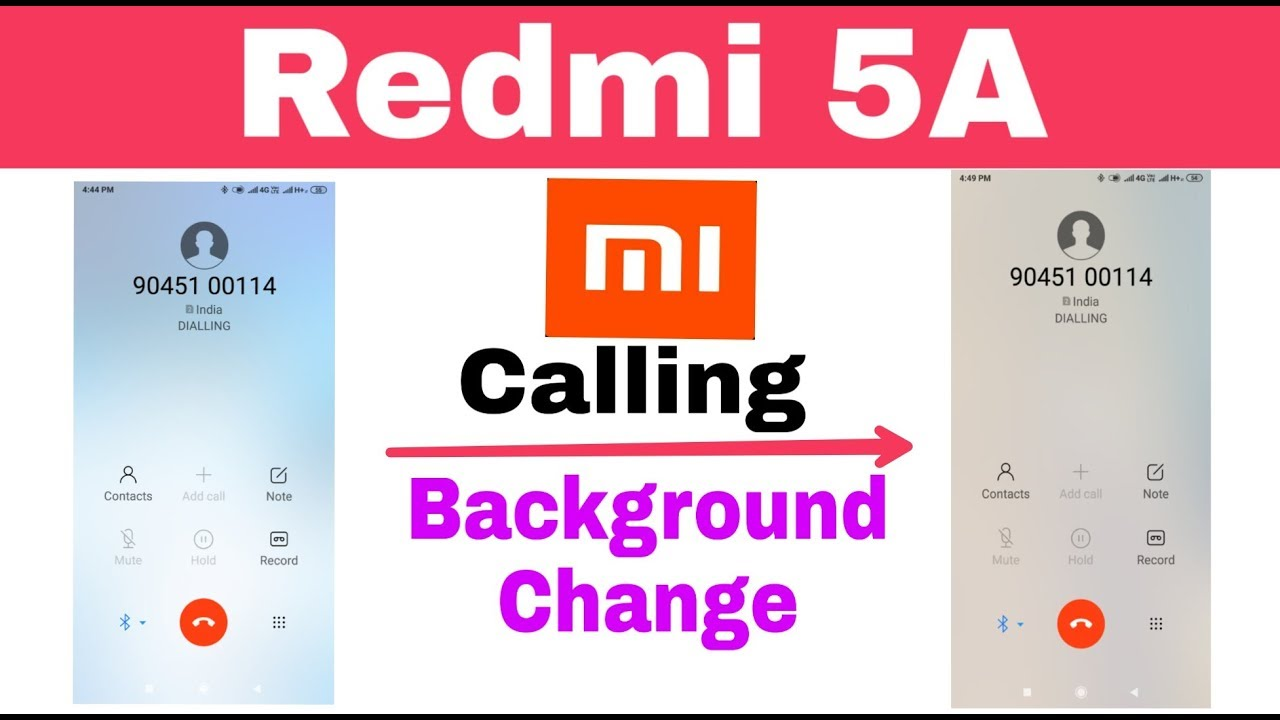 Xiaomi Redmi 5A   Change Colour Background Incoming And Outgoing Calls