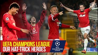 Manchester United's UEFA Champions League Hat-Trick Heroes   Rashford, Rooney, Van Persie, & More