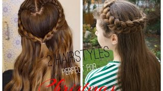 2 cute and easy CHRISTMAS HAIRSTYLES ❤️