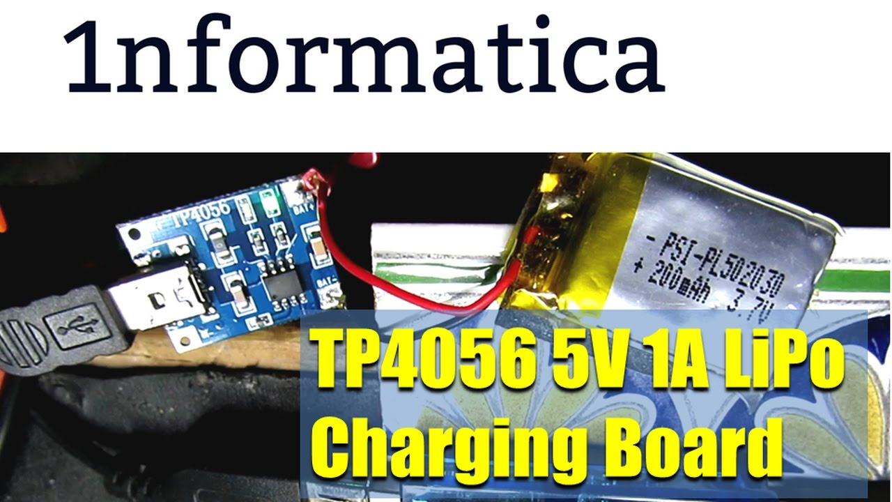 Tp4056 5v 1a Lipo Battery Mini Usb Charging Board From Banggood Module 18650 Lithium Boardin Integrated Circuits Electronic Project