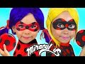 Alice Magic Transform into Miraculous LADYBUG with Costumes Super Hero