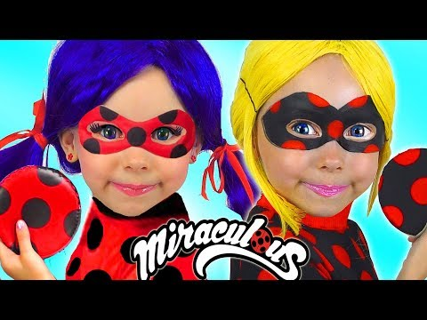 Kids Makeup LADYBUG & Costumes Super Hero Alisa Pretend Play with Toys For Kids Compilation