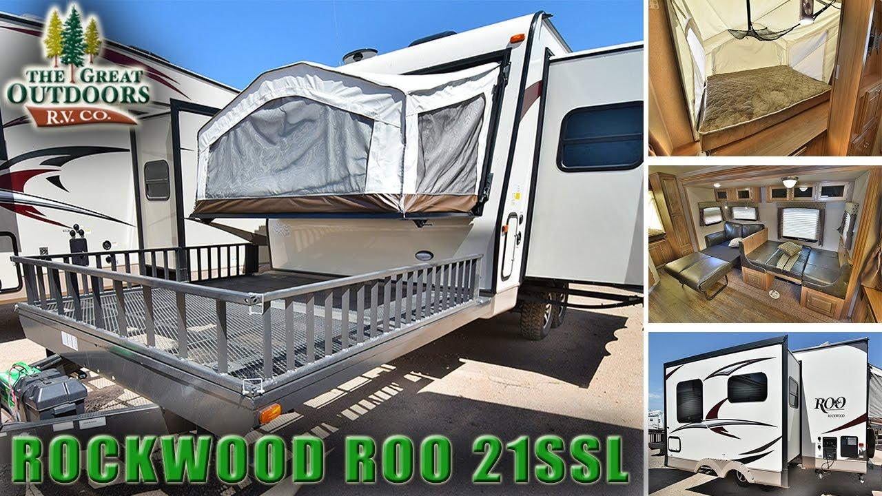Rockwood Pop Up Campers >> 2018 FOREST RIVER ROCKWOOD ROO 21SSL R1079 Toy Hauler ...