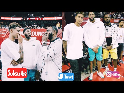 Lebron james, kyle kuzma and Anthony davis in attendance Lakers vs Clippers NBA summer league 2019