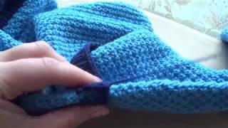 Жакет для девочки спицами (4 часть ).  jacket for girls