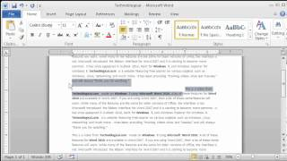Word 2010: Paragraph Formatting