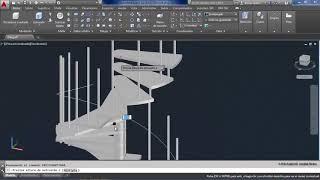 como hacer una escalera de caracol en autocad 3D