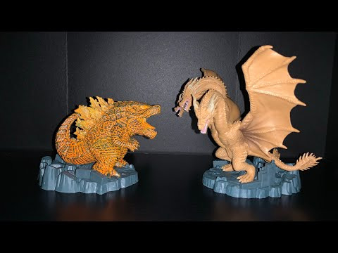 Deformation King Burning Godzilla and King Ghidorah Unboxing/Review