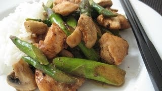 Chicken, Asparagus and Mushroom Stir-fry