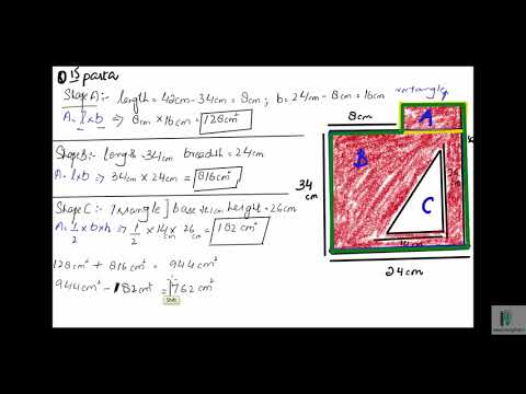 Find the area| Ex8A Q15parta,b| Problem and Solution| Olevels Syllabus D Book 1