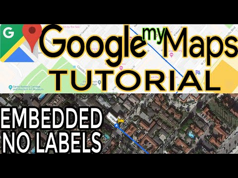 Google Maps Tutorial. How To Make Custom Google My Map, Embed Into Website No Labels