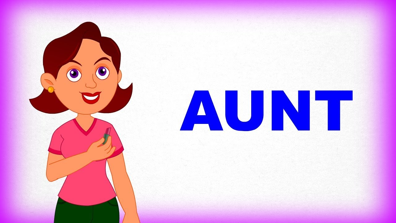 aunt family and me pre school learn spelling videos for kids