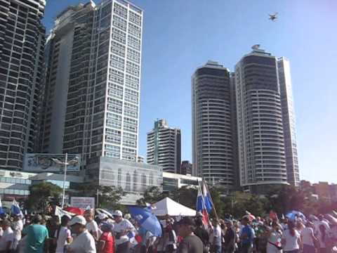 WEBCAM de una televisora en la Cinta Costera, Panamá.