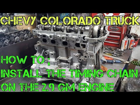 Chevy colorado GM 2.9 timing marks and how to install the ...