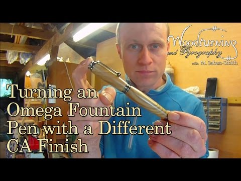 #11 Woodturning  a Pen with a Variation on CA Glue Finish