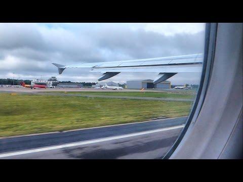 Airbus A320 takeoff Birmingham airport