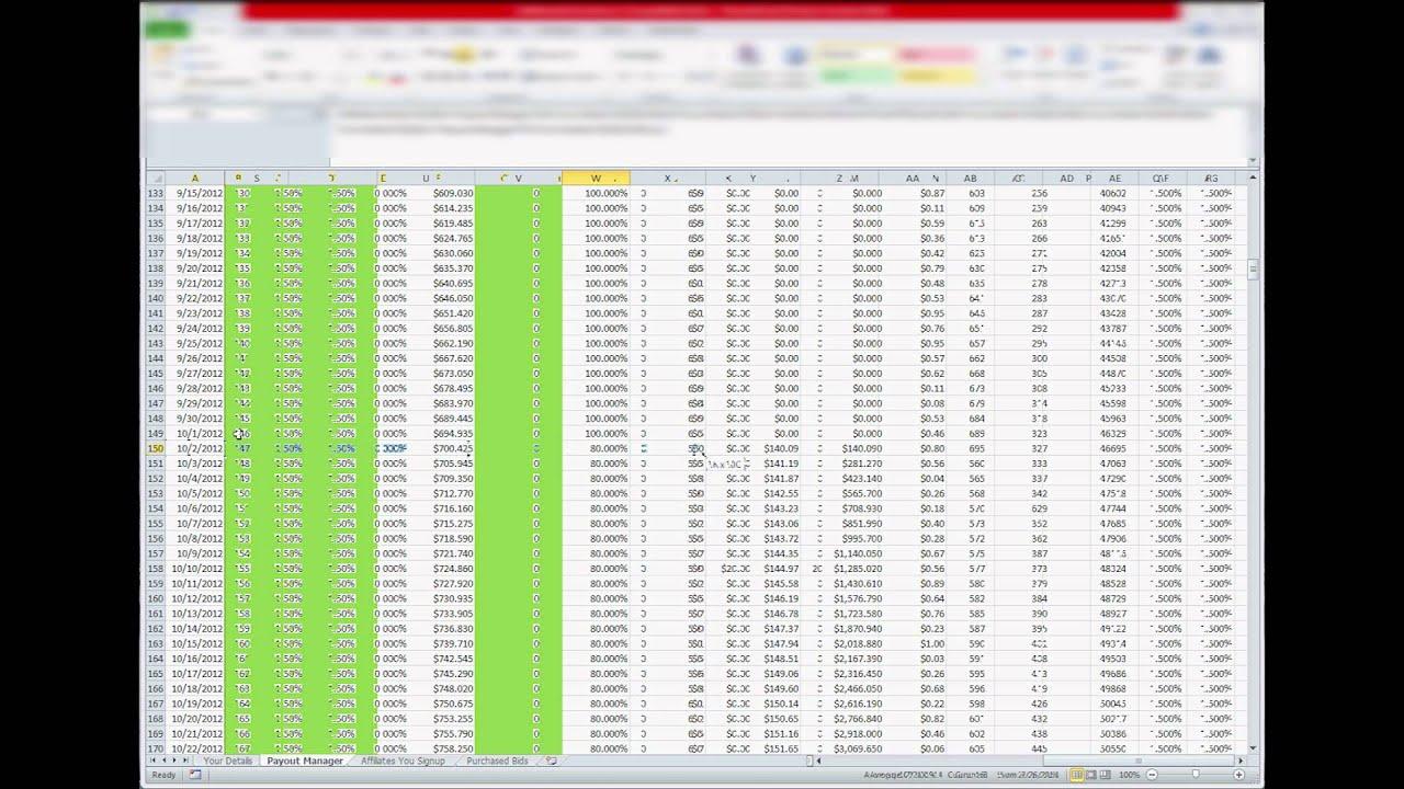 Zeekrewards Rewards Calculator Spreadsheet Program