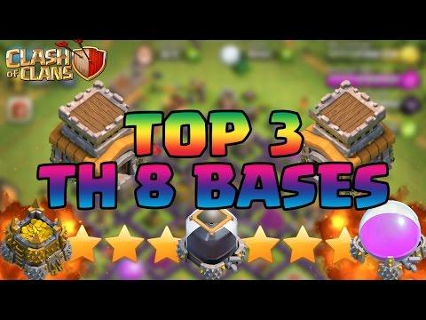 Clash Of Clans BEST Town Hall 8 (TH8) Defense Strategy FARMING/WAR/TROPHY/HYBRID Base Design 2015