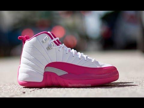 2d787fe63ab5 Air Jordan 12 Dynamic Pink (Vivid Pink) - YouTube