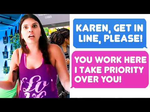 Wild Karen Thinks I Work Here. Actual Employee Trying Really Hard Not To Laugh -r/IDontWorkHereLady
