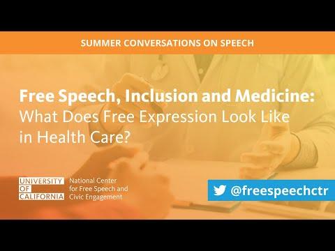 Webinar | Speech, Inclusion and Medicine: What Does Free Expression Look Like in Health Care?