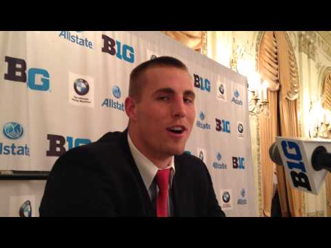 Jeff Heuerman at Big Ten Media Days - ELEVENWARRIORS.COM