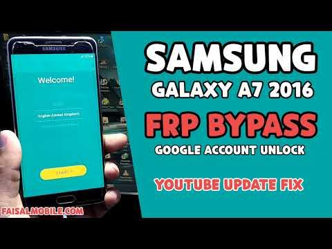 SAMSUNG A7 2016 FRP BYPASS Android 6/7 (Youtube Update Fix) A710F Google Bypass 2021