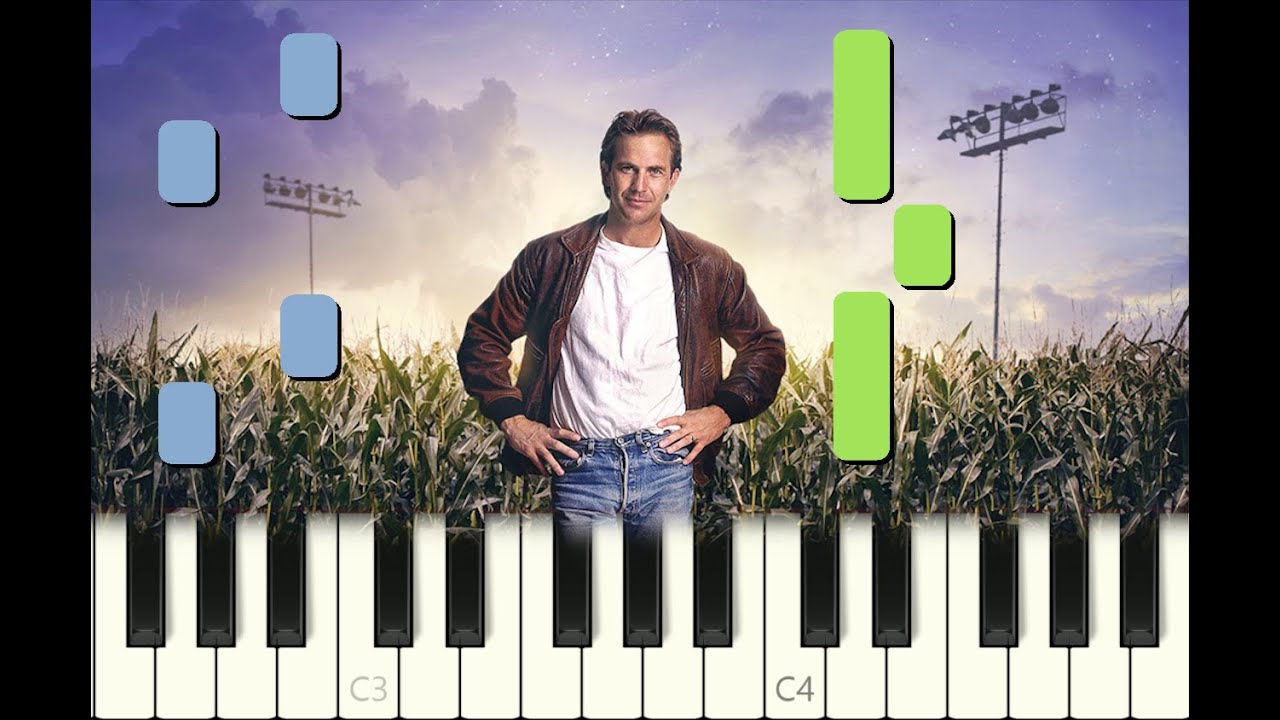 Piano Tutorial The Drive Home From Field Of Dreams Movie 1989 With Free Sheet Music Youtube