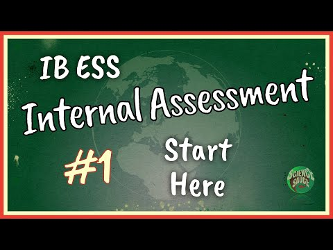 IB ESS IA - #1 Start Here