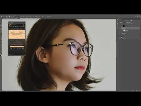 Beautify Panel Frequency Separation Retouching In Photoshop