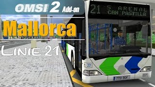 OMSI 2 Addon Palma de Mallorca | Linie 21 Aeroport → S'Arneal ☆ Let's Play OMSI 2