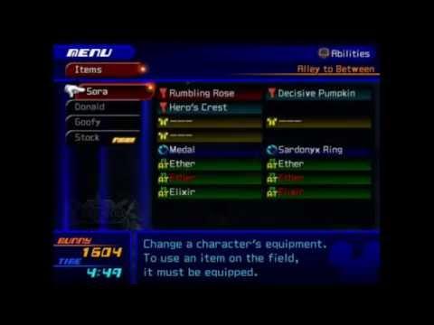 "Kingdom Hearts 2 - ""Missing Items"" Glitch"