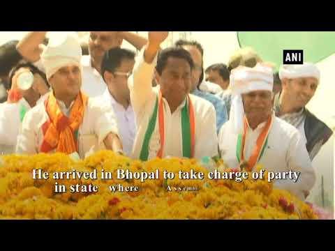 Watch: MP Congress chief Kamal Nath holds roadshow