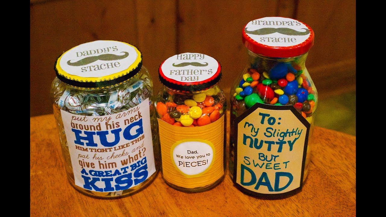 How To Make Fathers Day Candy Jars Youtube
