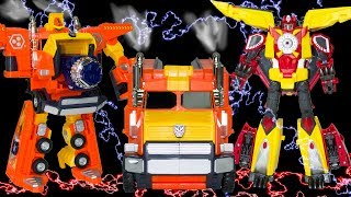 Transformers Carbot. Robots are transformed into Truck, Shark, Dragons and the Bird