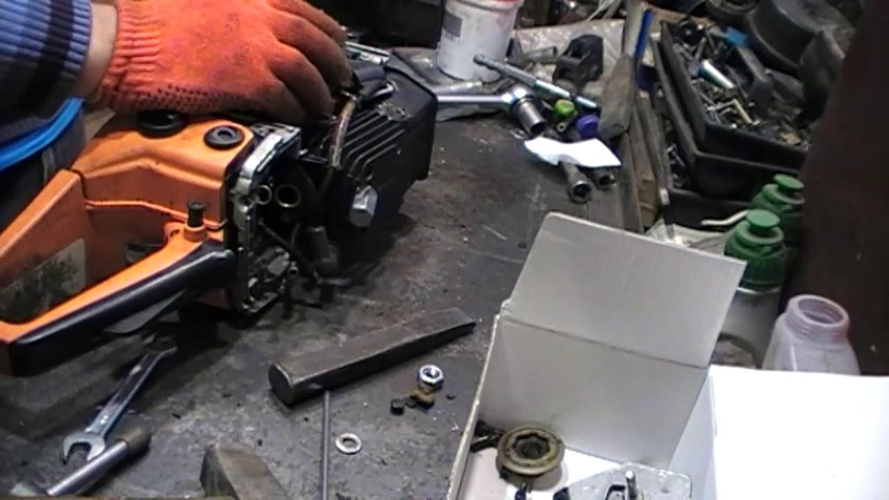 Как снять ротор магнето (маховик) на китайской бензопиле. Правильные и не правильные методы.