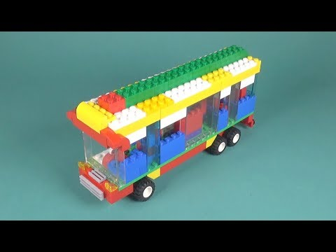 Lego Bus (004) Building Instructions - LEGO Classic How To Build - DIY